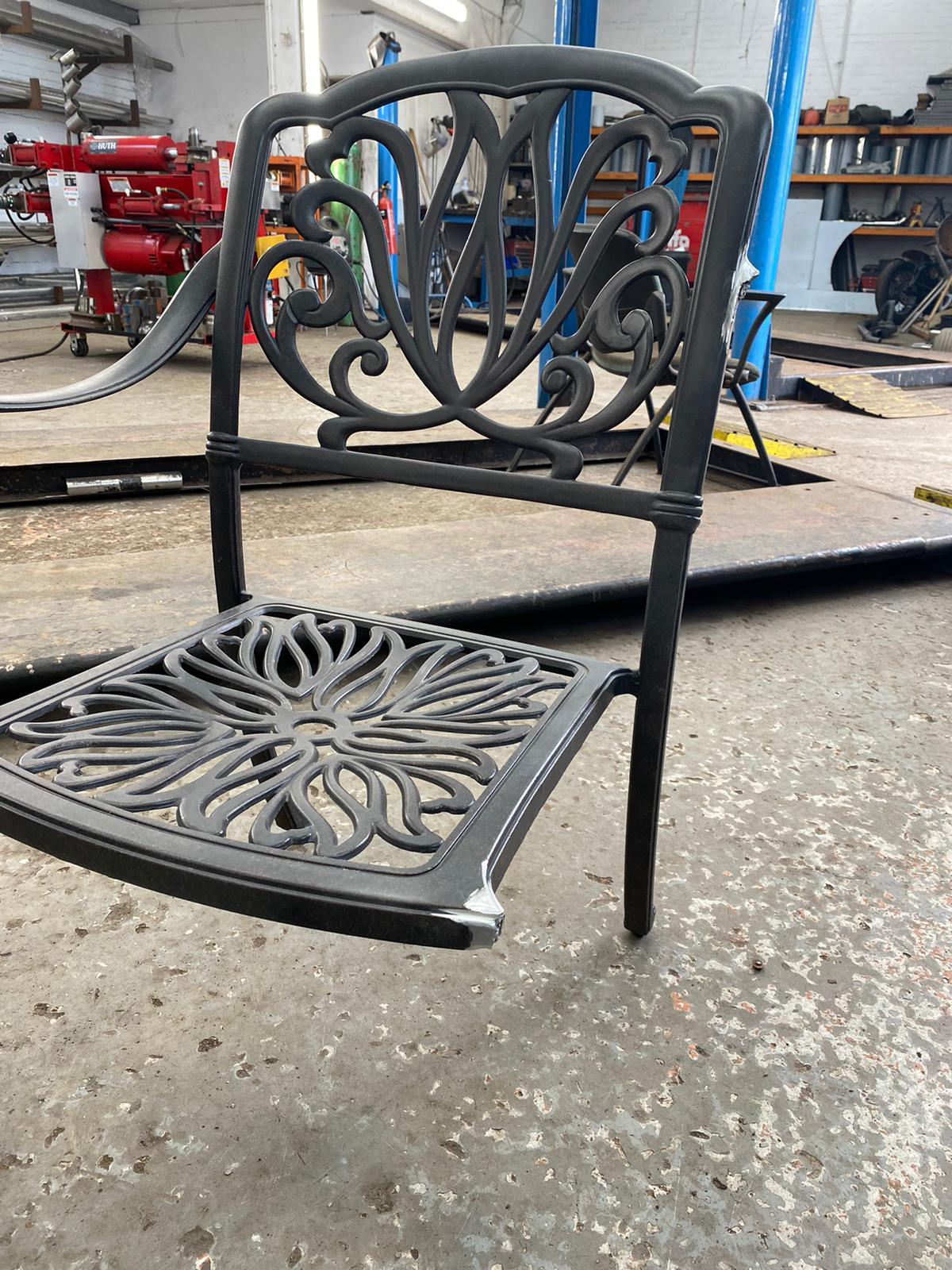Cast Aluminium Chair Repair