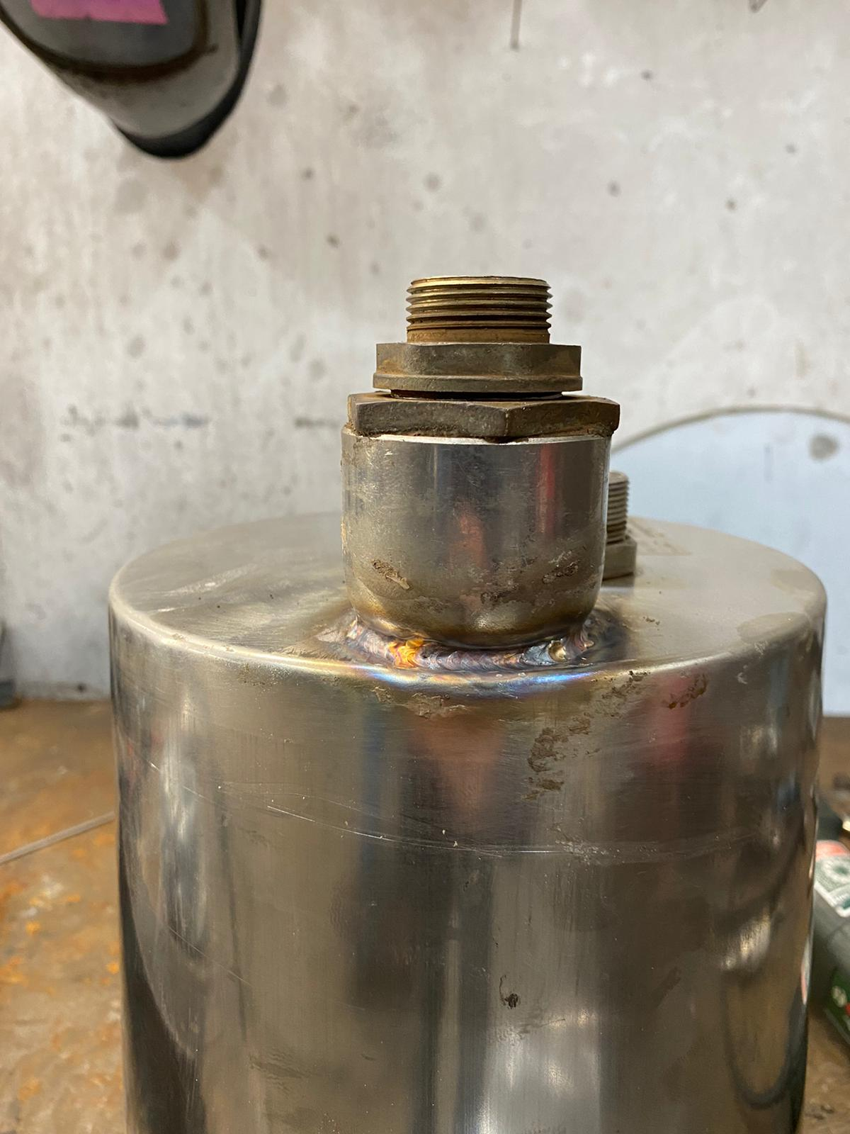 Stainless High Pressure Water Tank Repair